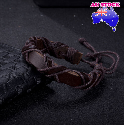 Cool X Shaped Brown Color Viking Binding Leather Bracelet