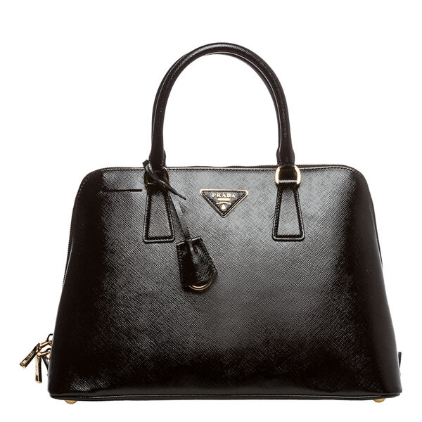 Auth Prada Saffiano Lux Vernice Top Handle Bag Black Italy COD PAYPAL LUV17