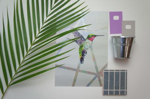 Elias Hummingbirds Grey Holden Decor Wallpaper 90500