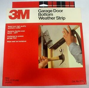3m Garage Door Bottom Rubber Weatherstrip Seal 16 Ft Long
