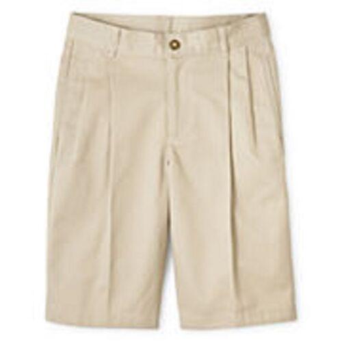Girls IZOD shorts 6x slim 10 12 14 16 18 20 1//2 husky navy khaki pleated NEW