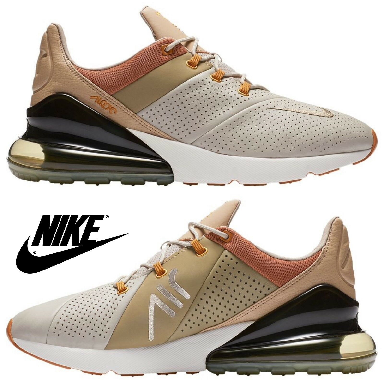 Nike Air Max 270 Premium scarpe da ginnastica Men's Running Athletic Comfort Gym Casual NIB