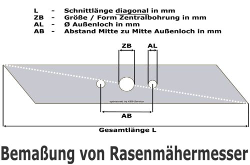 46cm Rasenmähermesser AL-KO Silver Comfort Premium 46 46.4 470 BR 4604 E mulchen