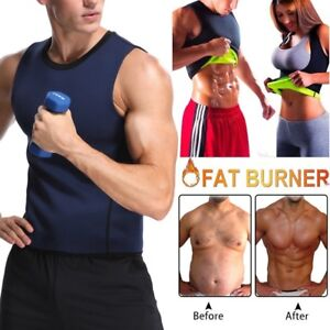 cd617ecb60 Mens Weight Loss Waist Trainer Vest Sauna Sweat Body Shaper Tank ...