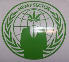 Anonymous Hempsec Hemp sector weed leaf Marijuana 420 decal sticker