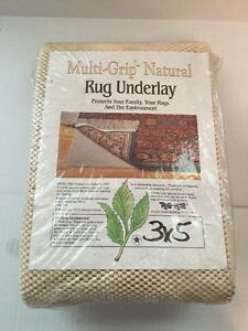 Non Slip Area Rug Pad Underlay Multi Grip Natural Non Skid