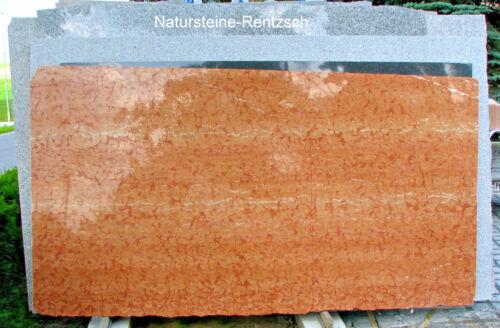 Tischplatte Marmorplatte Rosso Verona terracotta Couchtischplatte Abdeckung NEU