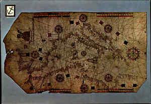 Schiffe-amp-Seefahrt-Mueso-Barcelona-Seekarte-Motiv-Mallorca-Maritim-Postkarte-col