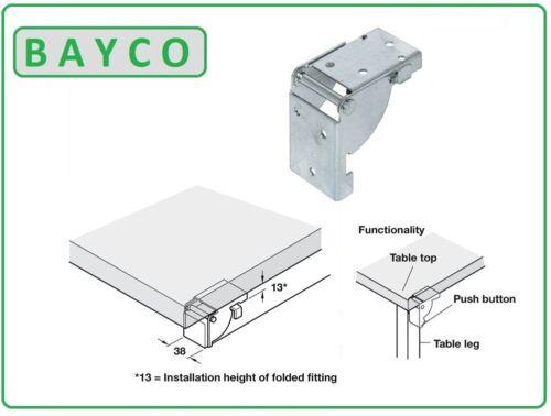 Table Jambe foldong Parenthèses 38 x 38 mm 2 Disponible en qyts de 1 4 Hafele