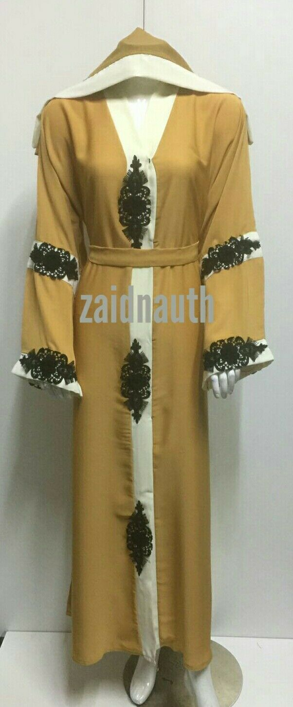 NUOVO aperto sul davanti Abaya Vestito Vestito Vestito Islamico di Usura Donne saudite dress. TG 52.54.56.58.2017 3c2ce8