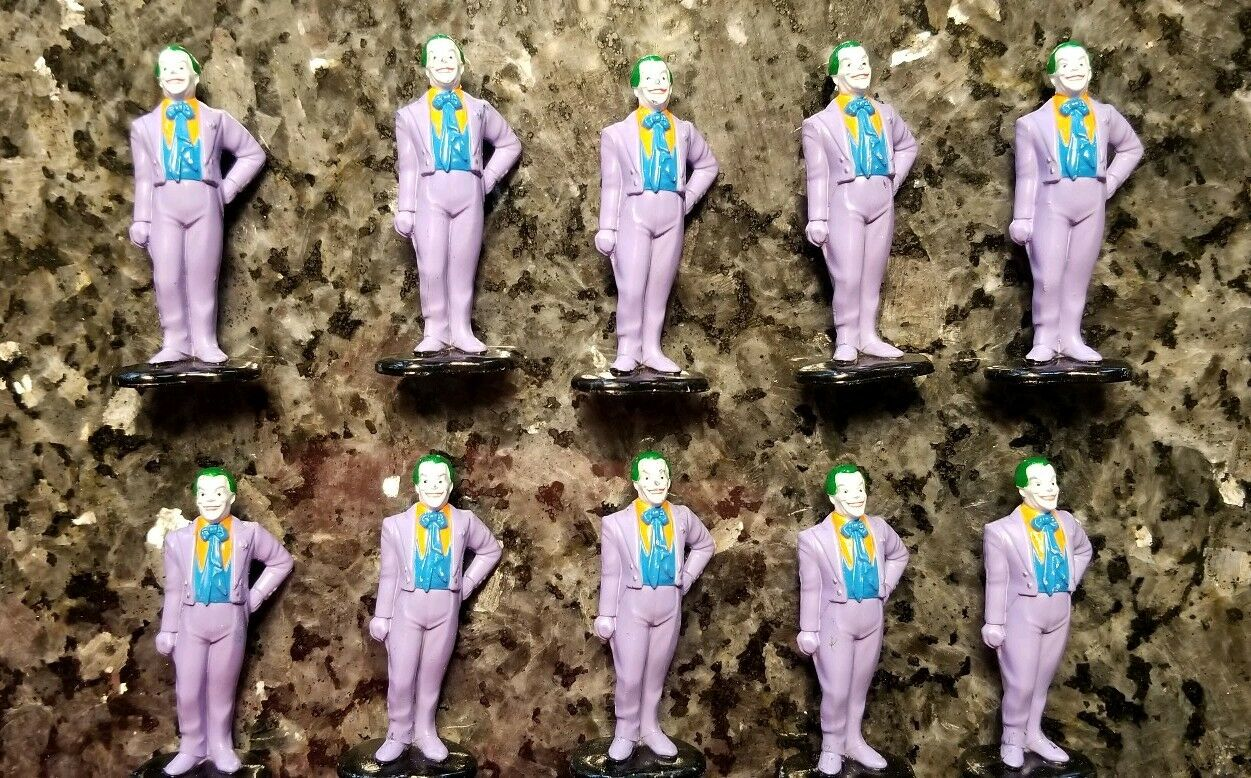 ERTL DC Comics Super Hero Figures (10) Jokers, Diecast Metal One Lot
