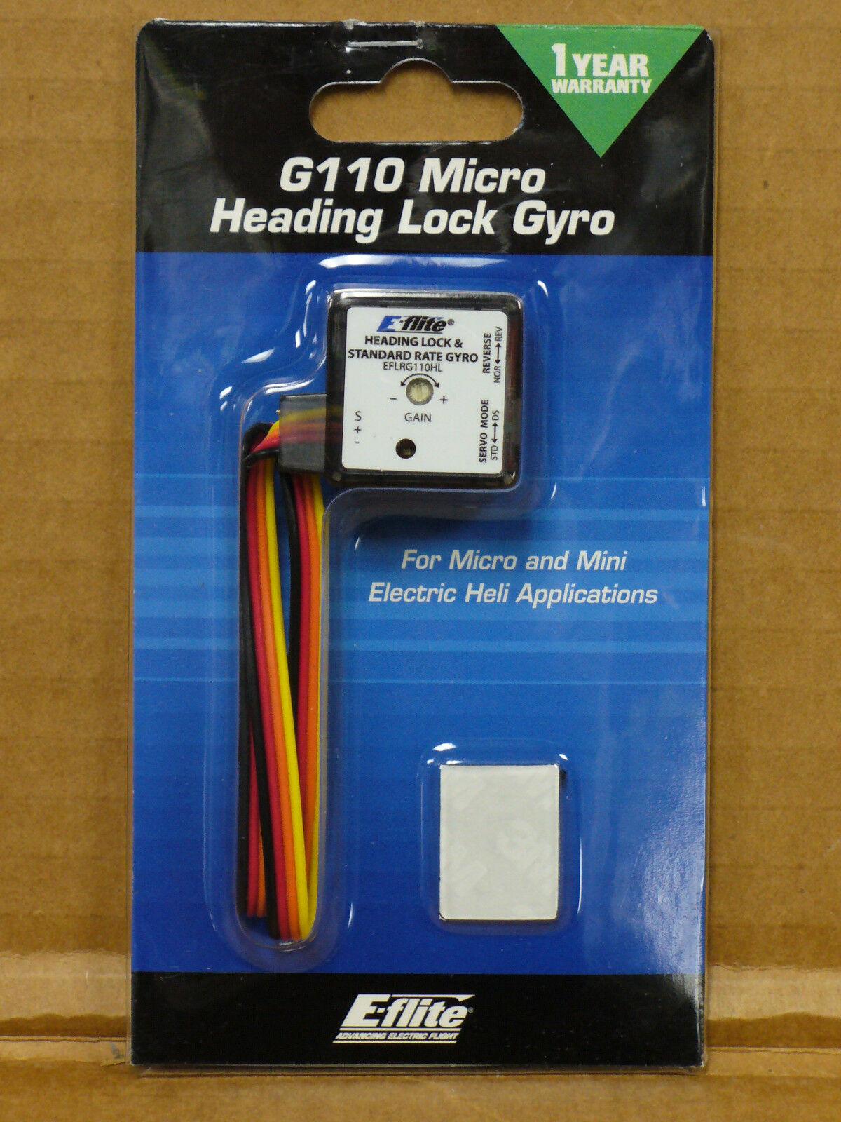 - flite Gyro Micro Heading E bloqueo G110 11 Gram helicóptero lámina eflrg 110HL  nuevo