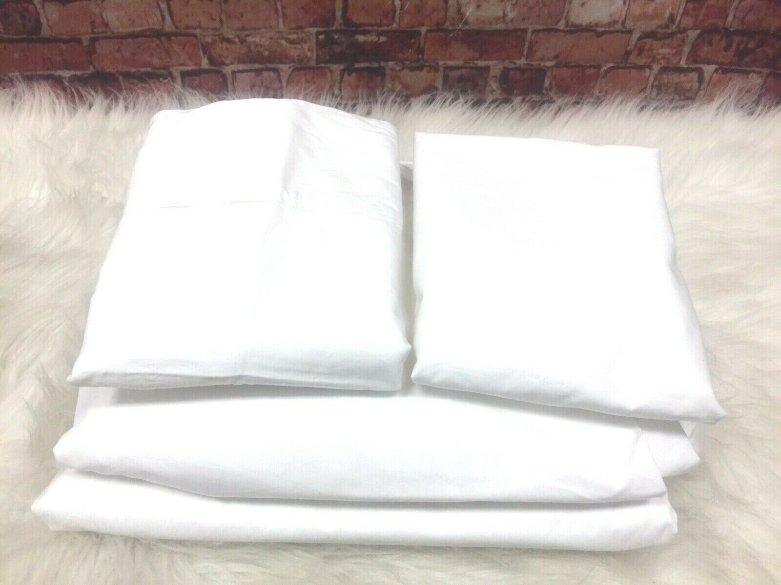 AQ HAMPTON HOUSE  WRINKLE RESISTANT NUPERCALE 600 TC WHITE QUEEN SET