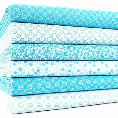 FQ Bundle - Momento & Elements - Turquoise x 6 - Cotton Fabric Patchwork Quiltin