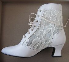 nwb COAST Shoes ankle leather/lace up BOOT Wedding Western Victorian Granny 7