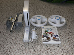 Nintendo Wii Console Lot w/ Mario Kart & Steering Wheels System Bundle Tested