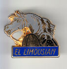 RARE PINS PIN'S .. SPORT CHEVAL HORSE HIPPISME TROT EL LIMOUSIAN OR & GRIS ~BR