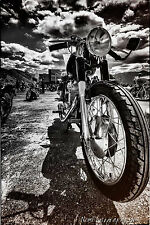 12x18 in Poster Vintage Ducati Cafe Racer Motorcycle, Garage Art Man Cave