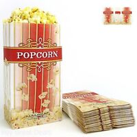 100 Bag Popcorn Bags Large Flat Bottom Paper Portable Cooking Standalone Style