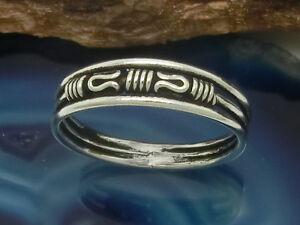 Schmaler 925 Silber Ring Bandring mit Schlaufen Spiralen - Hannover, Deutschland - Schmaler 925 Silber Ring Bandring mit Schlaufen Spiralen - Hannover, Deutschland