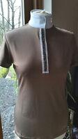 Sale Hkm Cavallino Marino Silver Stream Competition Shirt Rrp £61.95