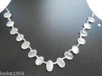 Hallmarked Sterling Silver Sri Lanka Moonstone Choker Necklace (n3/13) (new)