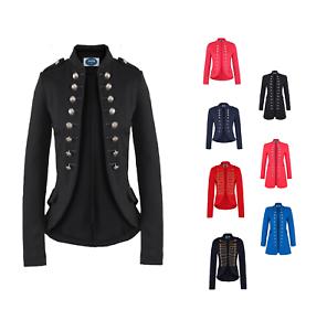 AO-Blazer-Uniform-Stil-S-M-L-XL-XXL-Military-Damen-Karneval-Business-Jacke