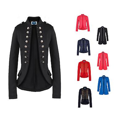 AO Blazer Uniform Stil  Knöpfe Military  Casual Business Jacke Rot L 40