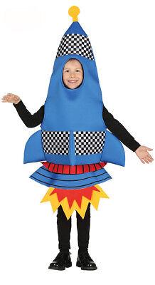 Kids Rocket Costume Girls Boys Fancy Dress Space Outfit Book Week Play 4-6-9 NEW