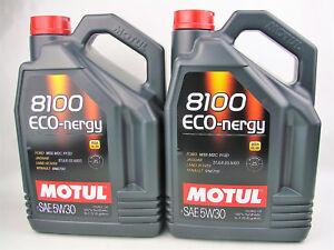 Motul-8100-Eco-Nergy-Aceite-de-Motor-5W30-10Liter-SAE-5W-30-Diesel-Gasolina
