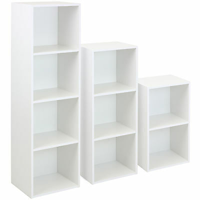 HARTLEYS WHITE FREESTANDING WOODEN BOOKCASE STORAGE/SHELVING/SHELF DISPLAY UNIT
