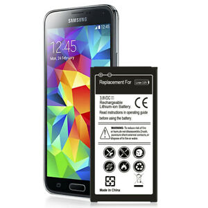 Long Lasting 6500mAh Replacement Battery for Samsung Galaxy S5 SV SM-G900T I9600