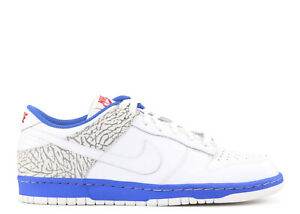 lowest discount coupon code sneakers Nike Dunk Low CL sz 9 JORDAN TRUE BLUE 3 III White Red ...