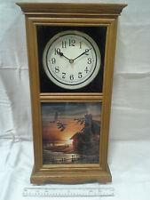 Terry Redlin Schoolhouse Clock Large Size 'Golden Retreat'