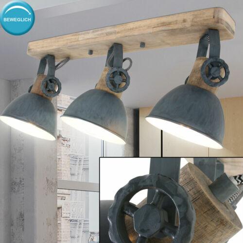 Holz Decken Leuchte Strahler beweglich Grau Leuchte Ess Zimmer Lampe Beleuchtung