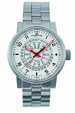 Fortis Men's Watch Spacematic Classic Automatic White-Red Steel Date 623.10.52 M