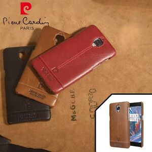new concept 551d0 c6f60 Pierre Cardin For One Plus 3 Oneplus 3T Genuine Leather PC Cover ...
