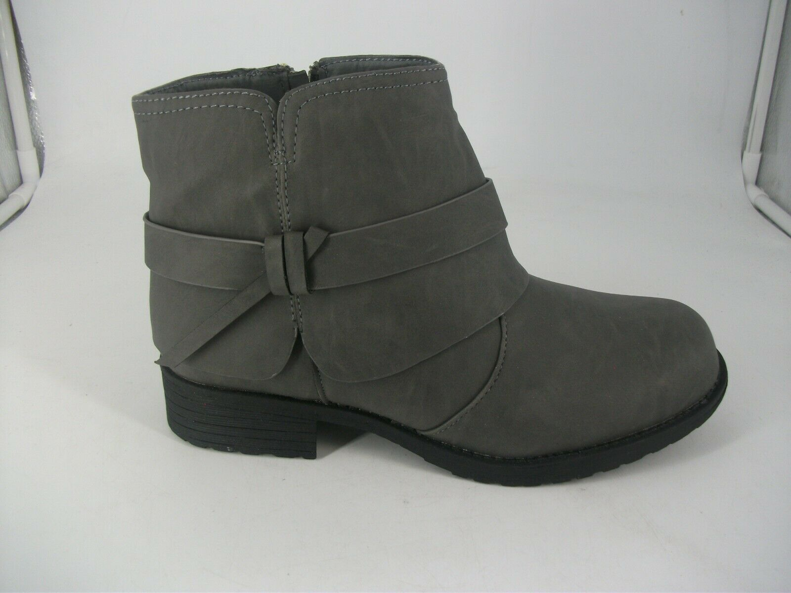 CIty Walk Grey Synthetic Ankle Boots JS094 BB 03