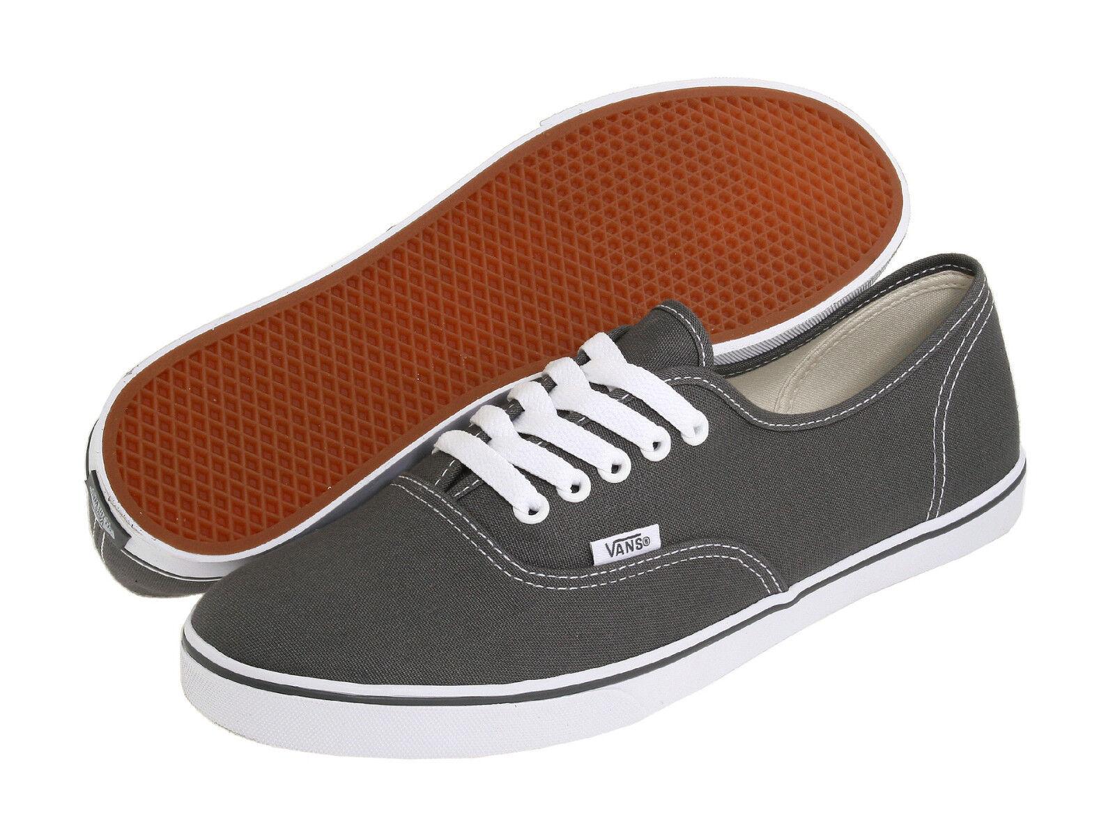 Vans AUTHENTIC LO PRO Mens Womens Pewter True White Canvas Lace Up Low Top shoes
