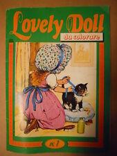 Album da colorare LOVELY DOLL #1 1976 Suppl. Figurine Lampo Flash    [G391]