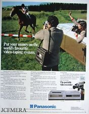 PANASONIC 'Portable' Video Recorder Advert - Original 1981 Print AD