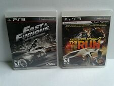 Fast & Furious: Showdown & Need for Speed the Run Limited edition PS3 lot of 2