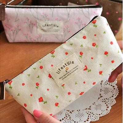 Hot Cute Floral Cosmetic Makeup Travel Bag Pouch Pencil Pen Case Purse Wallet