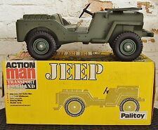 PALITOY ACTION MAN JEEP - TRANSPORT COMMAND with BOX 1970's