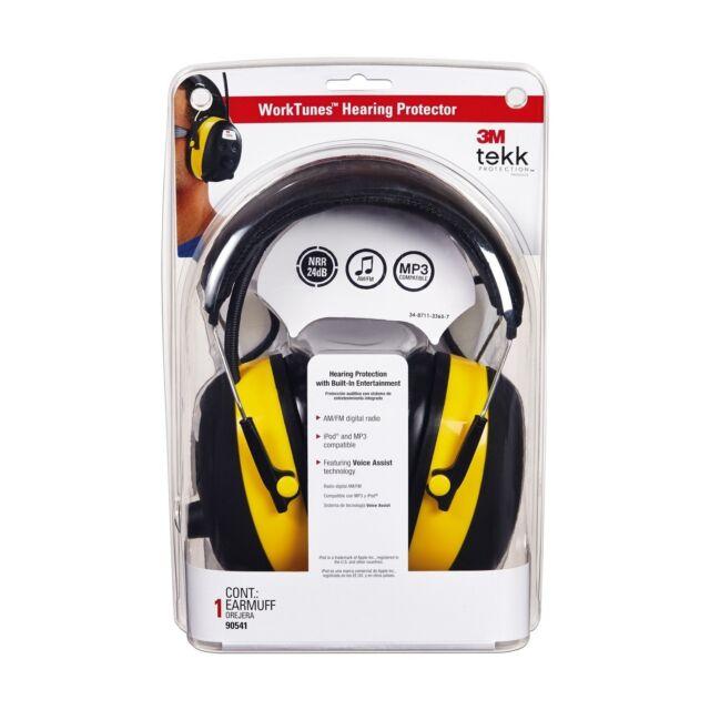 NEW Safety 3M TEKK WorkTunes Digital Hearing Protection Protector Earmuff MP3