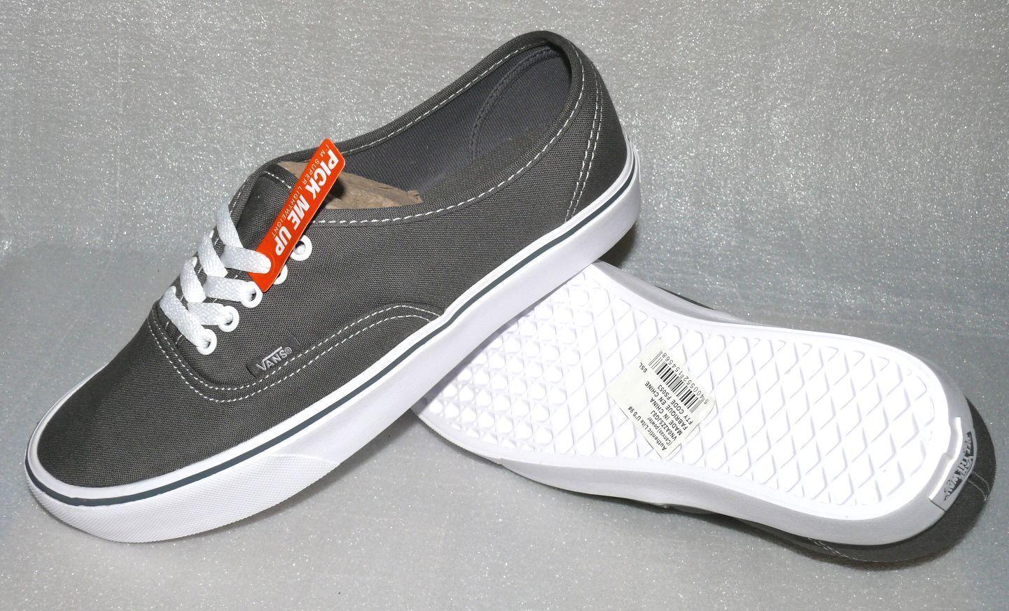 Vans Authentic Authentic Authentic Lite Canvas Herren Schuhe Stiefel EU 42 US9 Freizeit Skater Dk.Grau fba49b