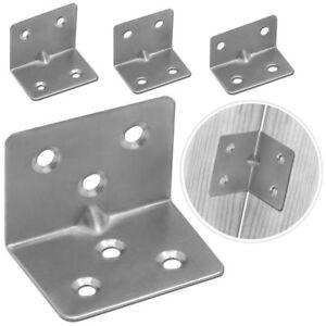 Set Winkelverbinder Lochwinkel Edelstahl Regalträger Balken Metall Handwerker