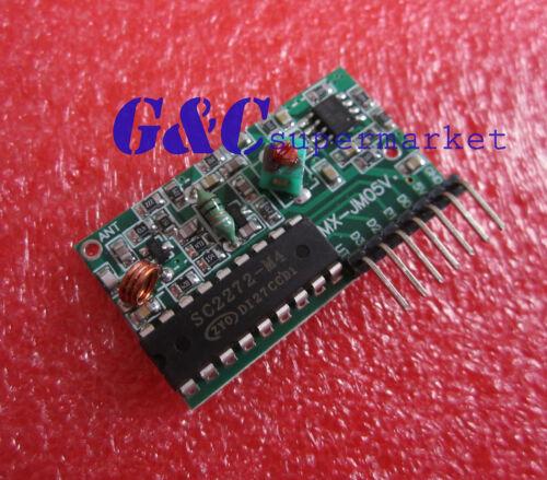 2pcs IC2262//2272 4 channel wireless remote control kits 4 key remote control M21