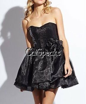 NWT BETSEY JOHNSON ORGANZA SEQUIN CORSAGE BUBBLE PARTY DRESS12 sale