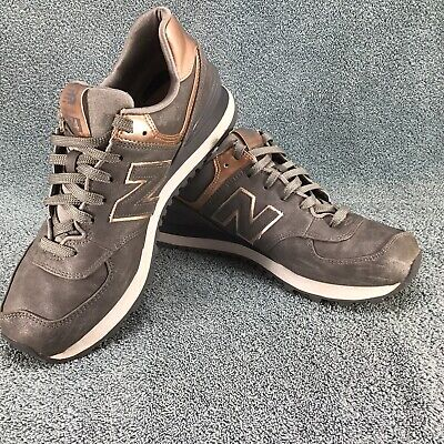 New Balance 574 Athletic Running Shoes Bronze Pewter Gray Suede Women's Size 9 B | eBay